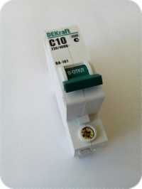 Выключатель автоматический 1Р 10А