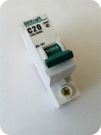 Выключатель автоматический 1Р 20А