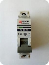 Выключатель автоматический 1Р 25А