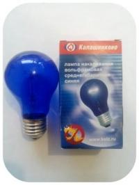 Лампа накаливания 220 В 60 Вт синяя