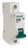 Выключатель автоматический 1Р С 16А ВА-101 4.5кА DEKraft
